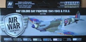 VAL71162 Model Air Set - WWII RAF Day Fighters & P.R.U. 1941-1945 (x8)